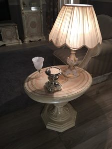 GRETA beige lamp table